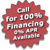 100% financing with 0% APR on your walk in tub