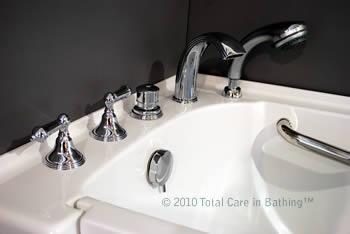 walk in tub faucets. fixtures and handheld shower Model 3052 Handicapped Tubs  Handicap Bathtubs Walk in Bathtub